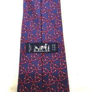 Hermes Accessories - Hermes Mens Purple Spinner Pattern Tie